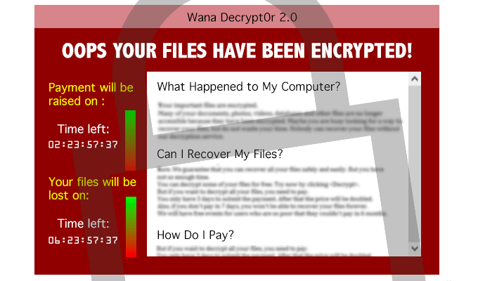 WannaCry - what it looks like